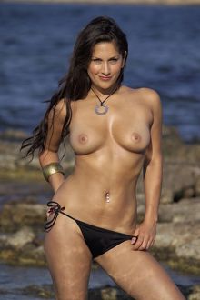 Chloe Rivers topless outdoors
