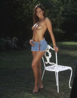 Jerri Byrne topless outdoors